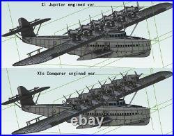 1/48 Dornier Do-X X1 or X1a (3D fabricated ABS kit)(Free shipping)
