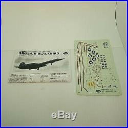 1/48 Testors #7584 SR-71 BLACKBIRD Plane Kit Sealed Bags NEW FREE SHIP