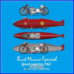 1/9 Burt Munro Special Speed record in 1962 free shipping in the USA