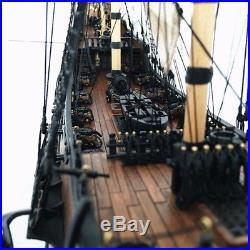 32'' Black Wooden Pearl Ship Assembly Model Kits DIY Sailing Boat Decor Toy Gift