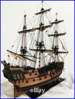 32'' DIY KITS Wooden Black Pearl Ship Assembly Model Kits Sailing Boat Gift