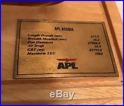 APL Arabia Handmade Container Ship Model Display Ready