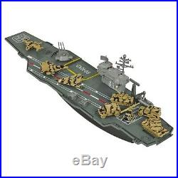Aircraft Carrier Model Game Ship Display Warship Battleship Navy Kids Toy Gift