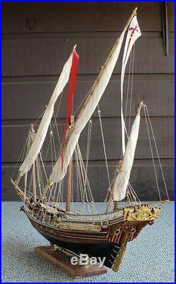Amati Xebec 28 Wooden Tall Ship Model Kit Historic Series Barbary Pirates