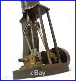 Antique 1900 Ship Marine Vertical Steam Engine Model 11´ Rare Massive 14 Lbs See