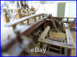 Antique Wood Model Ship of Famous Danish Norske Love Needs Restoration 175