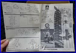 Apollo Saturn Rocket & Lunar Module Aoshima Model Kit Space Ship