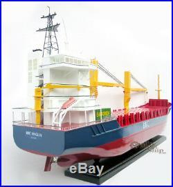 BBC Break Bulk Cargo Ship with Cranes 40 Handmade Wooden Ship Model Scale 1100