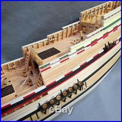 BUILT MODEL SHIPWAYS MAYFLOWER SHIP HULL & PARTS TO FINISH
