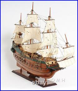 Batavia Dutch Navy Tall Ship 37 Wood Model Sailboat Assembled