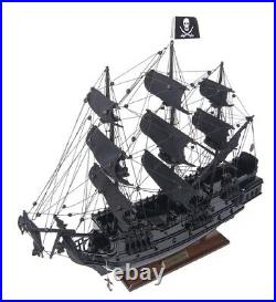 Black Pearl Caribbean Pirate Tall Ship 20 Wood Model Sail Boat Assembled