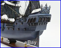 Black Pearl Pirate Tall Ship Handmade Wooden Ship Model 42 with lights
