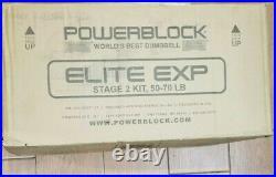 Brand New POWERBLOCK Elite EXP Stage 2 Kit 50-70lbs (2020 Model) FREE SHIPPING