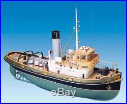 Brand new, RC Ready wooden model ship kit by Mantua the Anteo Tug Boat (743)