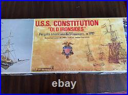 C. MAMOLI 1/93 SCALE USS CONSTITUTION WOOD SHIP MODEL KIT. Component bags unopen