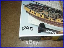 C. Mamoli 172 Scale Hunter British Armed Cutter Wooden Ship Model Kit