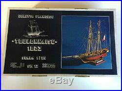 Corel Armed Merchant Schooner Toulonnaise Wood Ship Model Kit #SM12, 175 NEW