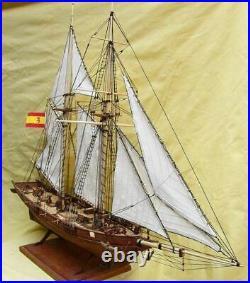 Crown DIY Halcon chipper ship 148 750mm 30 Wooden Model Ship Kit
