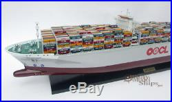 Custom Make Your Logo or Name on Our OOCL Container Ship Model Ready Display
