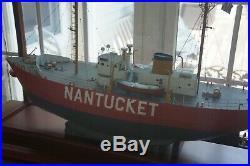 Custom U. S. S. Nantucket Light Ship Model United States lightship Nantucket
