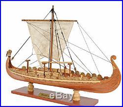 Drakkar Dragon Viking Longship Wooden Ship Model Small 15 Fully Built Sailboat