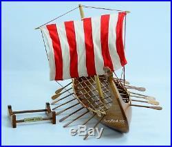 Drakkar Dragon Viking Wooden Ship Model Boat 24