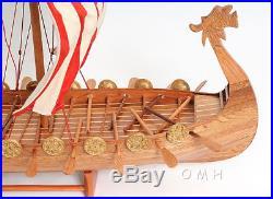 Drakkar Dragon Viking Wooden Ship Model Boat 25 Sailboat New