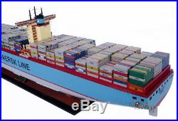 Emma Maersk Container Wooden Ship Model Display Ready