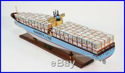 Emma Maersk E-Class Handmade Wooden Container Ship Model 39.5 Scale 1400