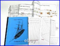 Escadra 1/72 Russian Schooner Lastochka Wooden Ship Model Kit 07202