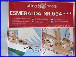 Esmeralda sailing ship model kit wooden