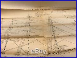 FLYING CLOUD Bluejacket wooden ship model clipper ship 1st drawn 1928 rev. 1974