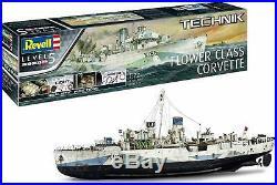 Flower Class Corvette Military Ship Revell 172 Scale Technik Lv 5 Model Kit