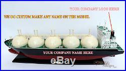 Gas LNG Carrier Tanker Ship Model Ready Display We do custom make