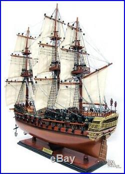 HMS Bellona Tall Ship Full Assembled 28 Wooden Model Ship