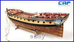 HMS Enterprise Scale 1/48 840 mm 33 Wood Ship Model Kit Complete Set