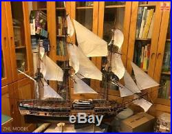 HMS Surprise Scale 1/48 56.9 Wood Model Ship Kit with 4 lifeboat sailboat