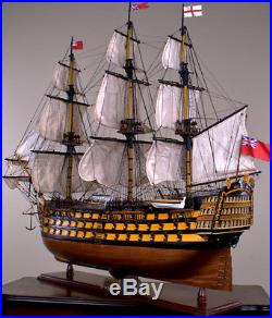 HMS VICTORY 52 wood model ship large scale sailing tall ...