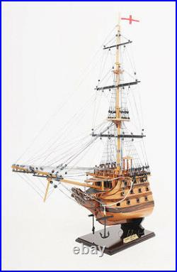 HMS Victory Bow Section Wooden Tall Ship Model 19.5 Lord Nelson's Flagship