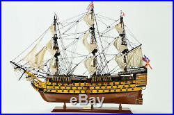 HMS Victory Lord Nelson's Flagship Wood Tall Ship Model 34 Built Boat New