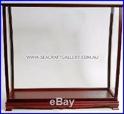 Hardwood Display Case Cabinet For Ship Model 95cm Flat Pack Plexiglas Perspex