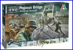 ITALERI 6194 WWII D-Day Pegasus Bridge Battle Diorama Model Kit 1/72 FREE SHIP