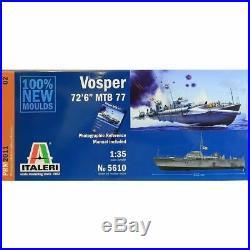 Italeri 135 5610 British MTB 77 Vosper Motor Torpedo Boat Model Ship Kit
