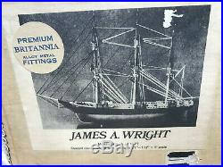 JAMES A. WRIGHT- 1877 Bluejacket wooden ship model with BRITANNIA Hdw