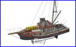 JAWS ORCA 3 FOOT Model Boat With QUINT Statue Wood Lobster Ship Museum Quality