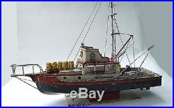 JAWS ORCA Wooden Model Boat Wood Lobster Fishing Trawler Ship Bruce Lobsterboat | Model Kits Ships