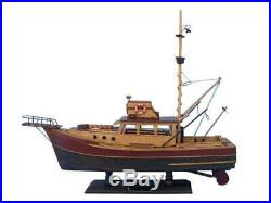 Jaws Orca 20 Famous Ship From JAWS Wooden Model Boat Ship NEW