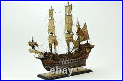 Jolly Roger Pirate Ship 30 Handmade Wooden Ship Model Museum Quality