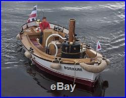 Krick Model Boat Borkum Live Steam Launch Kit Ship