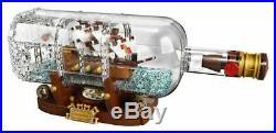 LEGO Ideas Ship in a Bottle 21313 Expert Building Kit, Snap Together Model